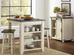 Madison County 3 Piece Counter Height Table Set
