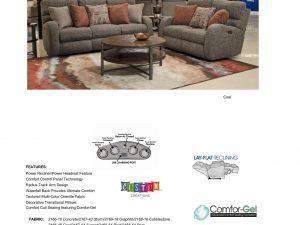 Liam Power Fabric Reclining Sofa
