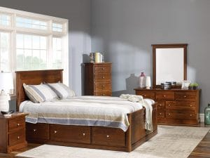 Queen Storage Bed Decora Mahogany