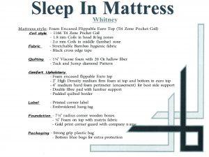 Sleep-In Whitney Queen Mattress