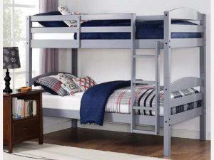 Wood Bunk Bed Grey