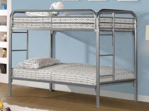 Metal Bunk Bed Silver