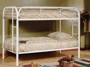 Metal Bunk Bed White
