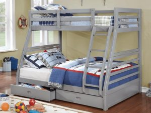 Bunk Bed Twin over Double Grey