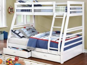 Bunk Bed Twin over Double White