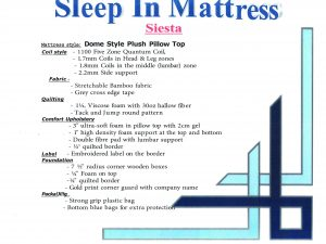 Sleep-In Siesta Queen Mattress