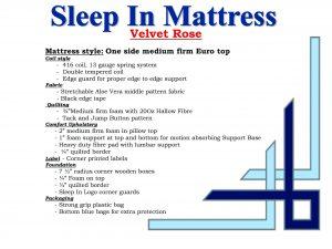 Sleep-In Velvet Rose Queen Mattress