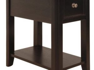 Breegin Chairside End Table in Black