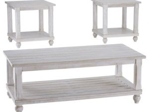Cloudhurst White Occasional Table Set