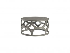 Rustic Grey Round Cocktail Table
