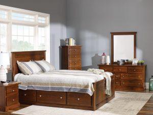 Decora Mahogany Queen Storage Bed